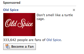 Old Spice Facebook Ad