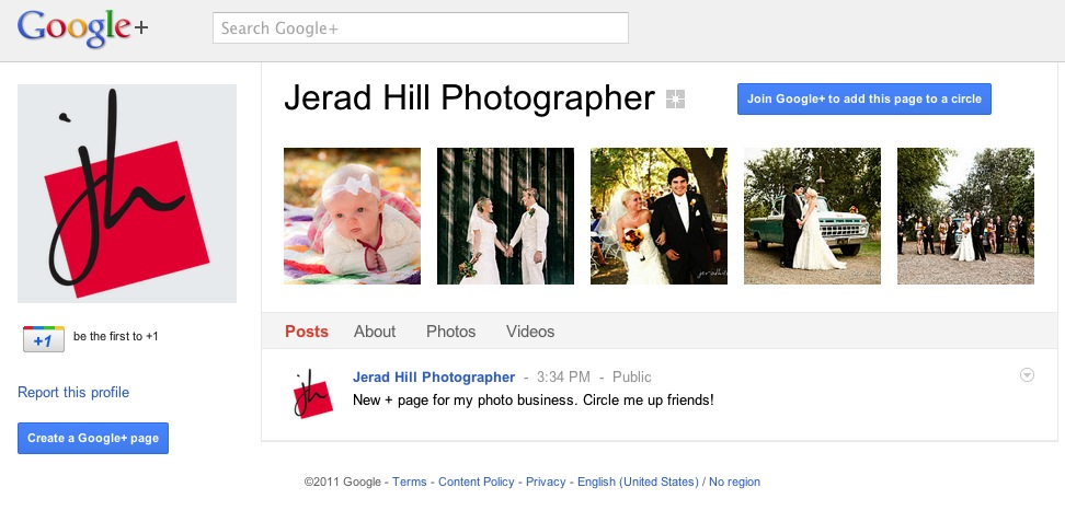 Google+ Page for Business
