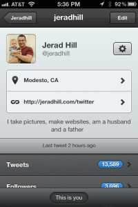 Tweetbot - Follow Jerad Hill on Twitter