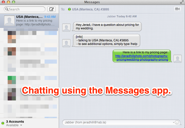 Chat With Clients on Your Website on a Mac