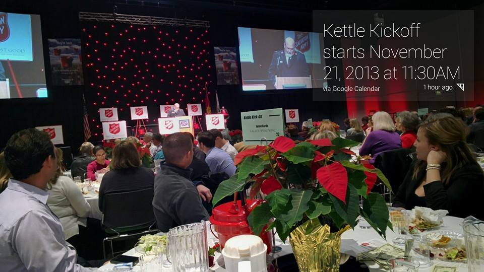Salvation Army Kettle Kickoff 2013 Modesto #ThroughGlass
