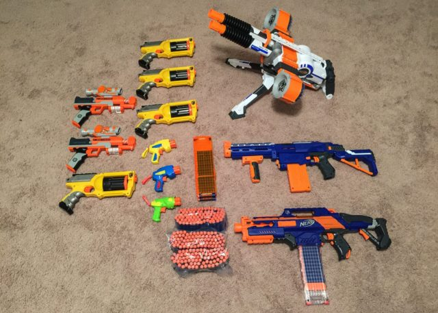 Nerf Battle Birthday Party Arsenal