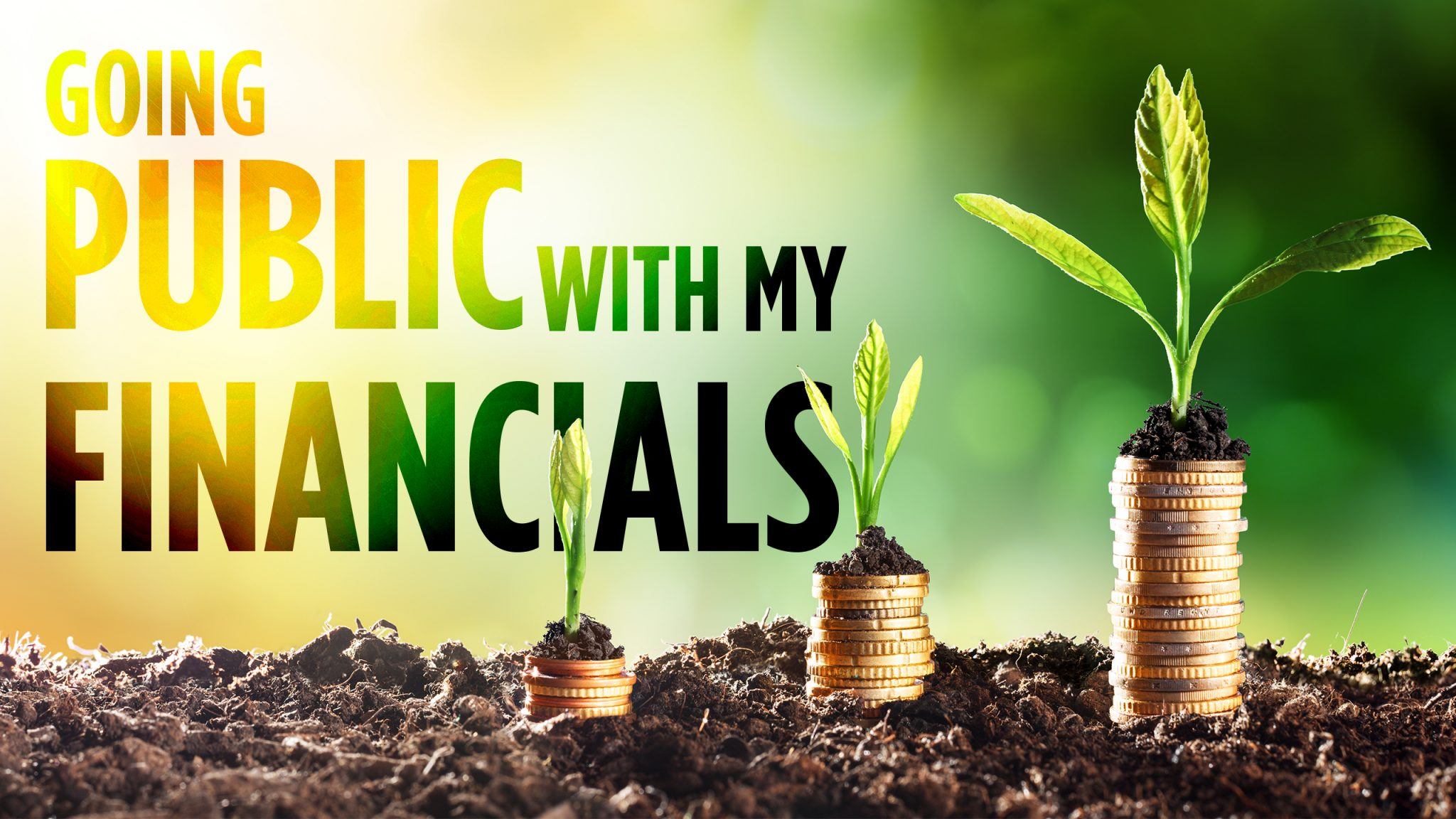 Going Public with my Financials